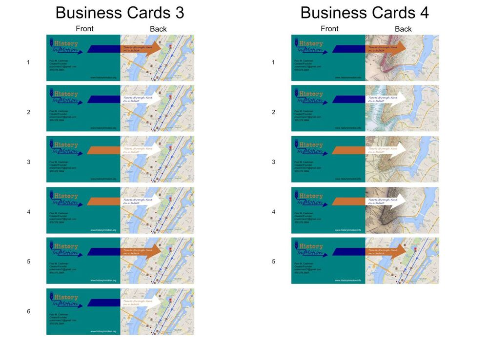 Business Card Variations