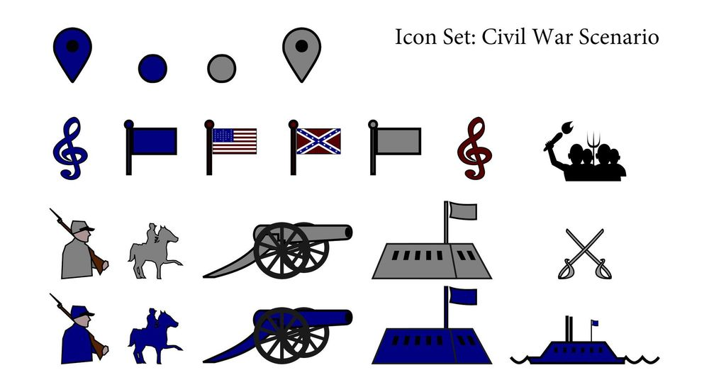 Icon Set: Civil War Scenario