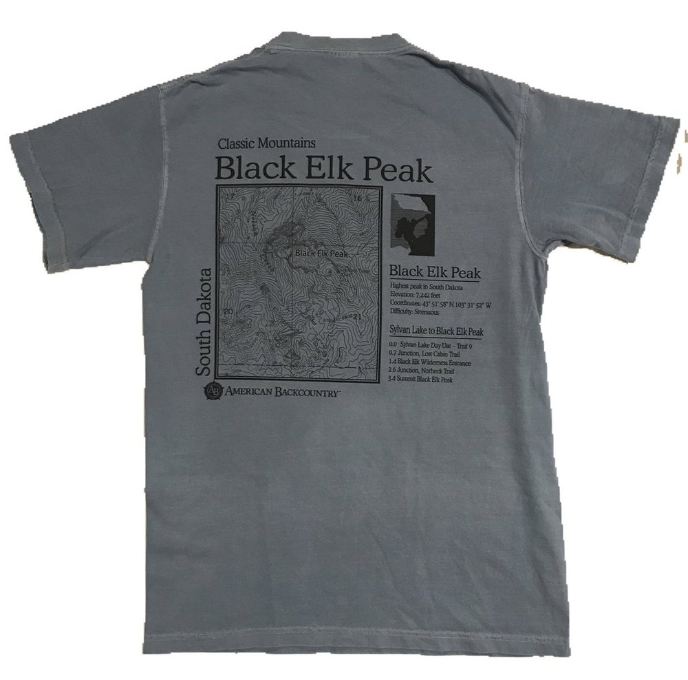 For your Uncle Bob... - ...who visited from Iowa in July and schooled you racing to the top: A Black Elk Peak T-Shirt