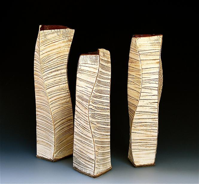 kohiki 20 (flower vase) tall : 16 x 4.25 x 4.25 inches, medium : 13.5 x 4.25 x 4.25
