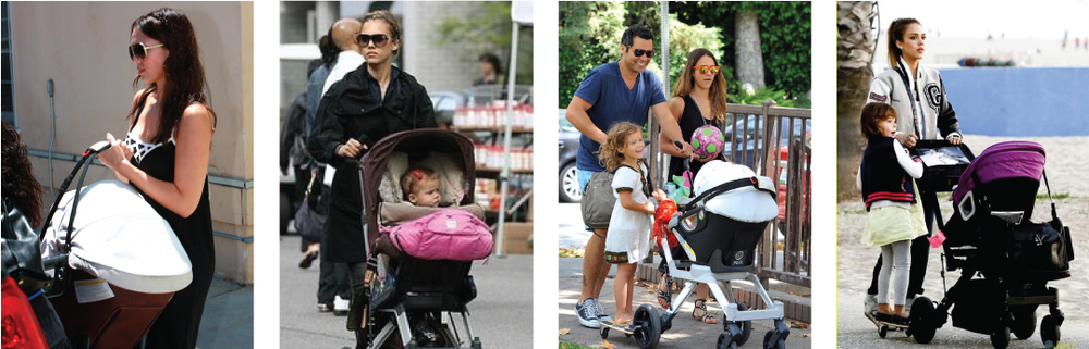 Jessica Alba has been photographed using the entire family of Orbit Baby products with both of her daughters, Honor and Haven - demonstrating Orbit Baby's mission to design products that will truly grow with your family.