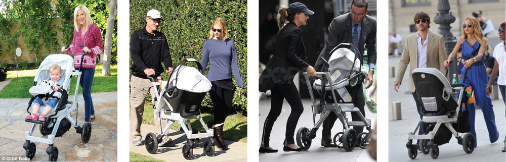 "Other celebrities seen with the Orbit Baby ""G2"" included: Tori Spelling, January Jones, Natalie Portman, and Rachel Zoe, to name a few."