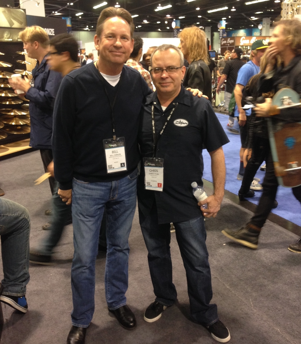 with Bill Gibson - Huey Lewis & the News, NAMM 2014