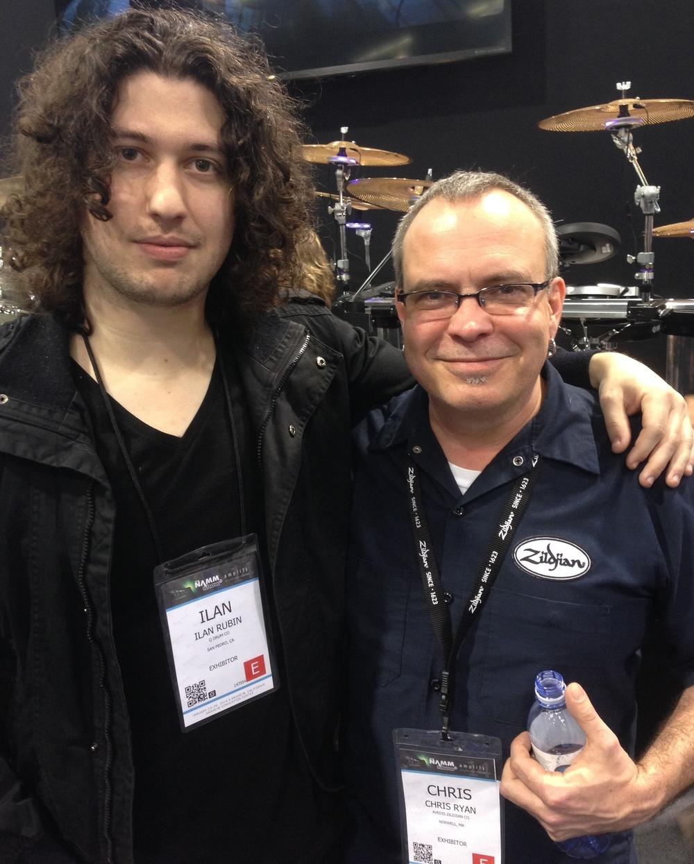 with Ilan Rubin - Nine Inch Nails, NAMM 2014