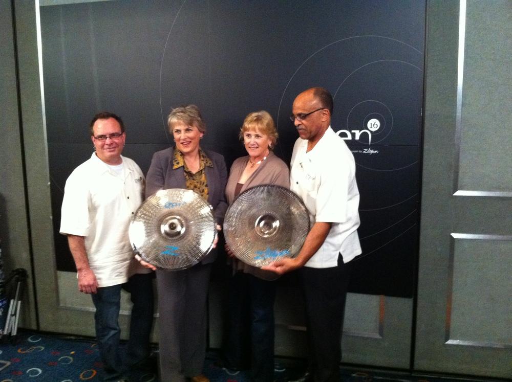 The launch of Zildjian's Gen-16 Acoustic Electric (AE) Cymbal System, with Craigie Zildjian, Debbie Zildjian, and John Roderick