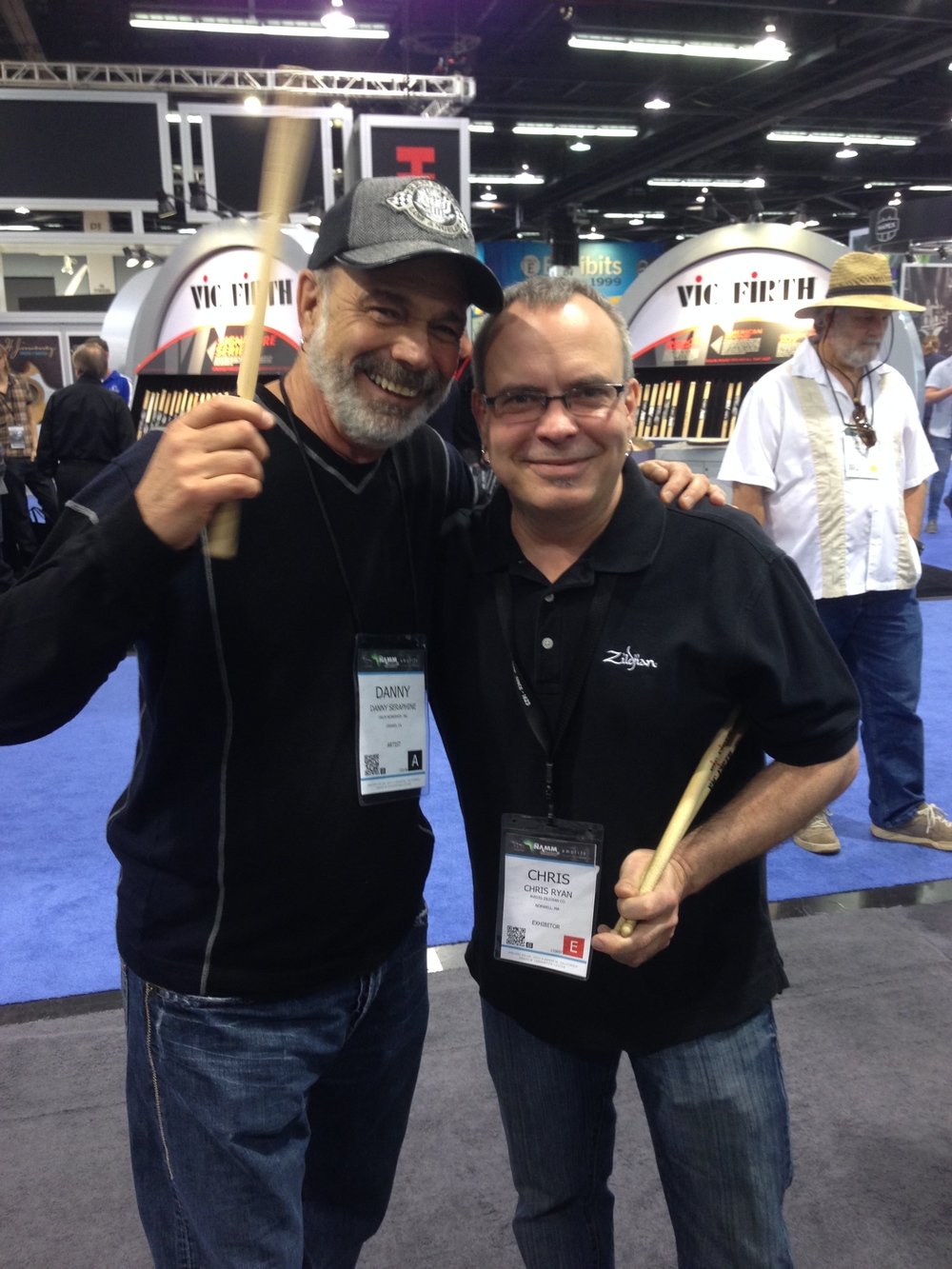 with Danny Seraphine - Chicago, NAMM 2014