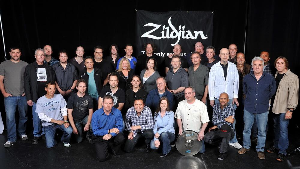 with the Zildjian Team, NAMM 2011