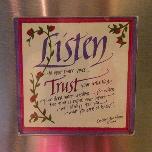 I found this magnet this afternoon on my husband's aunt's fridge in Texas and smiled a whole lot.  I mean, c'mon - this simply could not be any better.