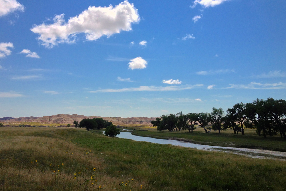 The White River in The Badlands, SD.