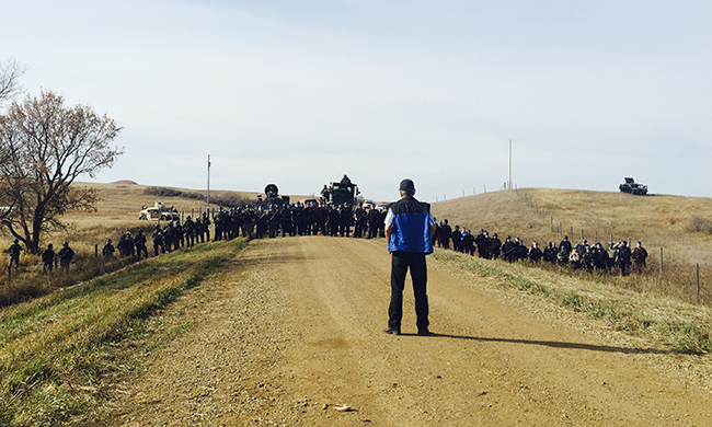 The Standing Rock Victory You Didn't Hear AboutThe day 40 to 50 Native water protectors kept 250 militarized police from attacking camp. - 2016, Yes! Magazine
