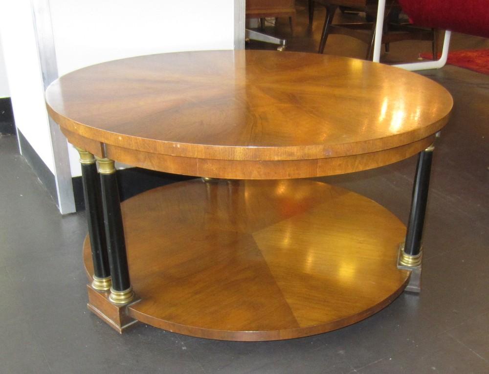 Superbe SOLD  Vintage Baker Neoclassical Coffee Table. 1960sBaker.NeoclassicalRound. CoffeeTable.LoiselVintageModern.1.JPG