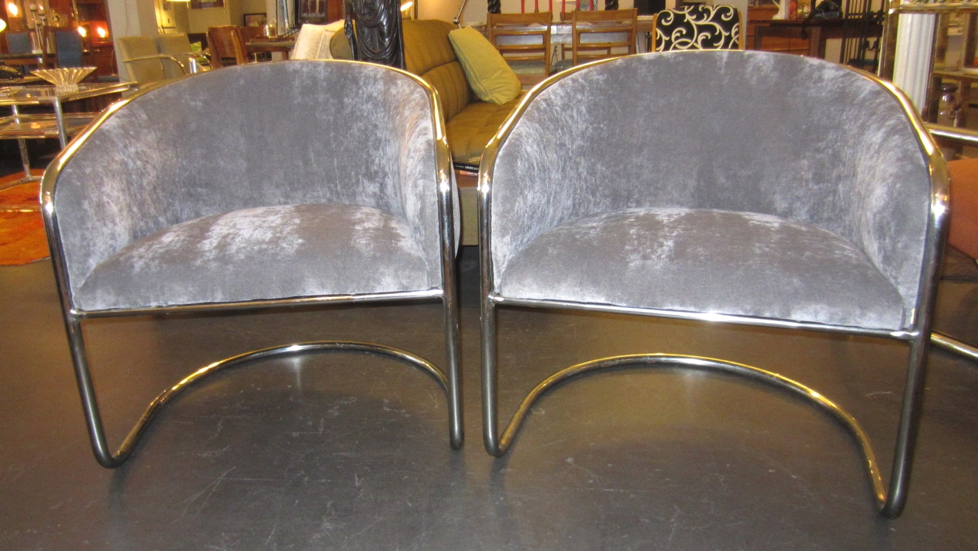 Miraculous Sold Pair 1970S Mod Thonet Chrome Club Chairs Loisel Dailytribune Chair Design For Home Dailytribuneorg