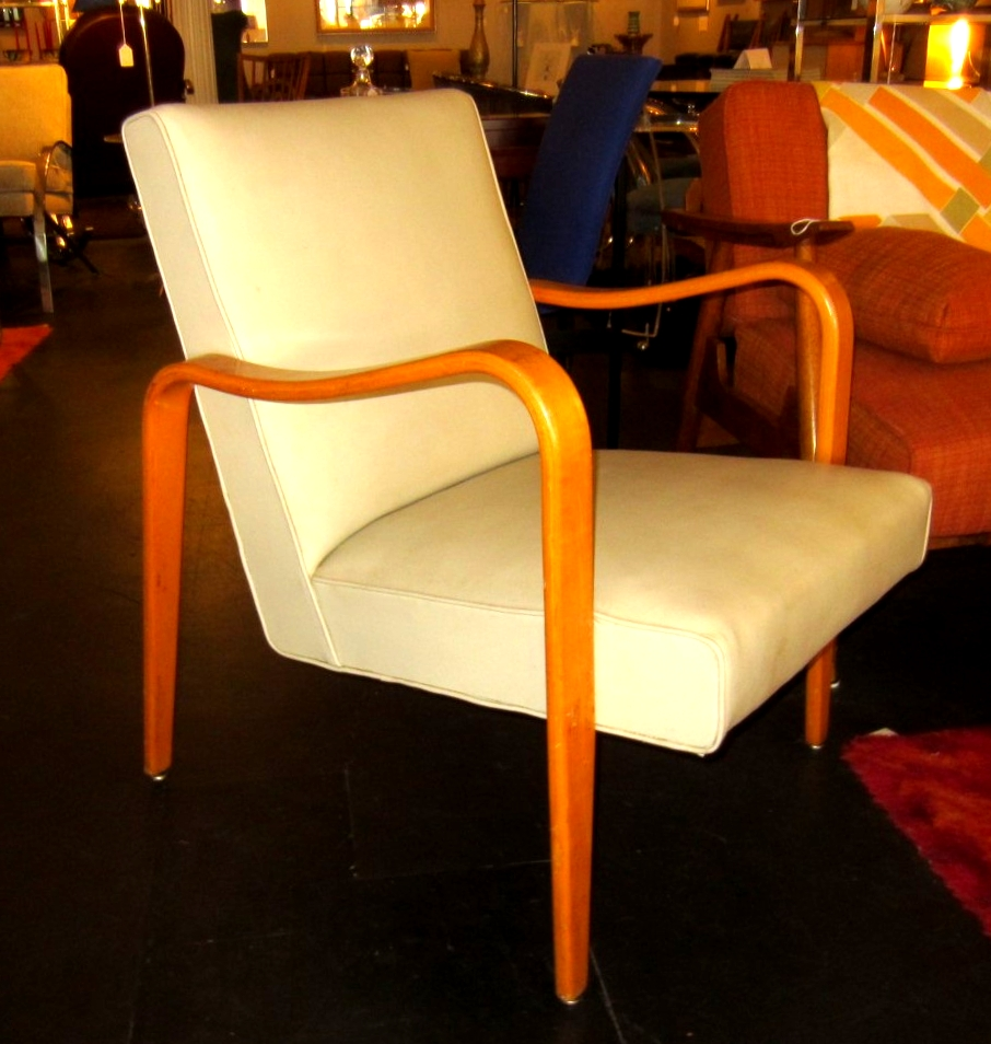 SOLD  Early 1950u0027s Thonet Bentwood Arm Chair. ThonetBentwood.LoungeChair.