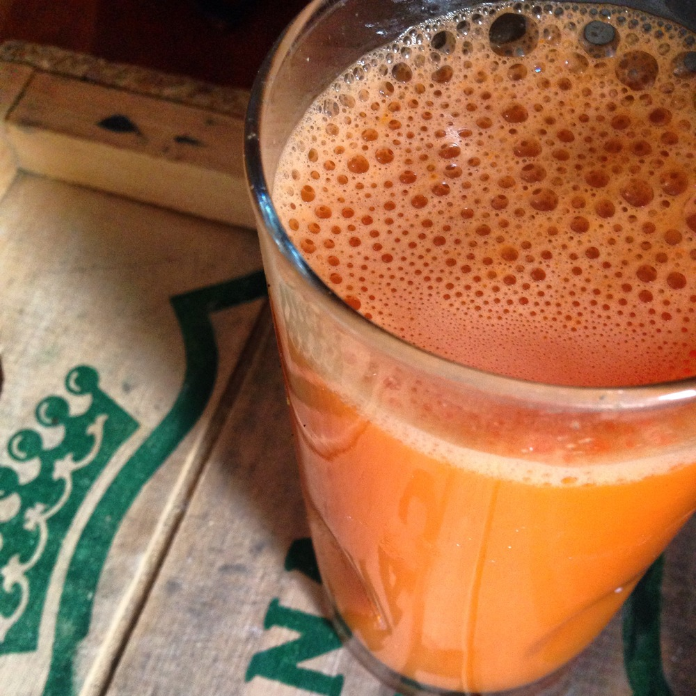 ginger-y carrot sweet potato juice