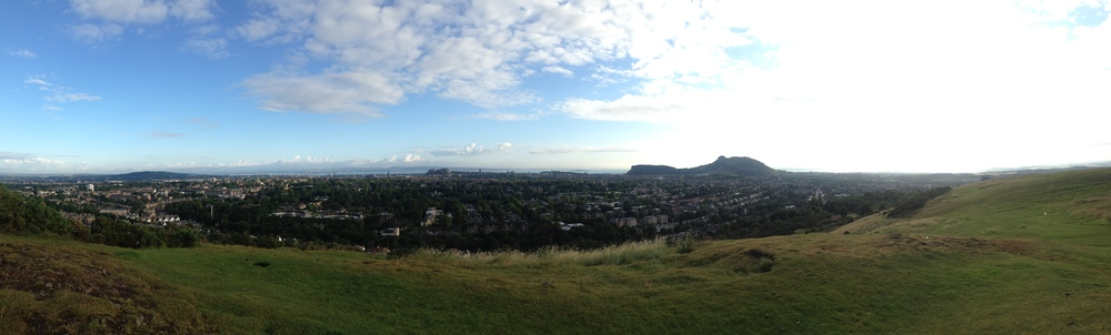 my other favourite view in the entire world and my fave running destination: blackford hill, edinburgh.