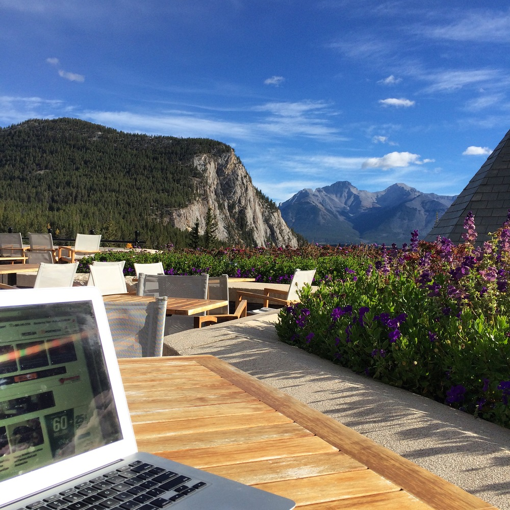just another day at work & some pretty good office views at the Banff Venture Forum