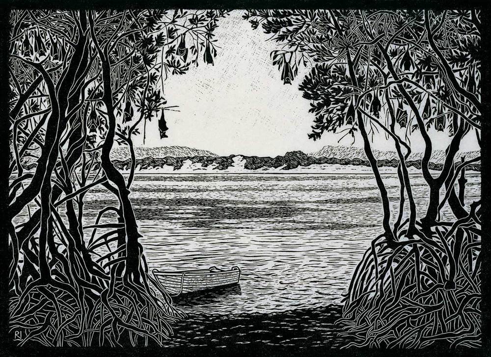 flying-fox-camp-endeavour-river-linocut-rachel-newling.jpg