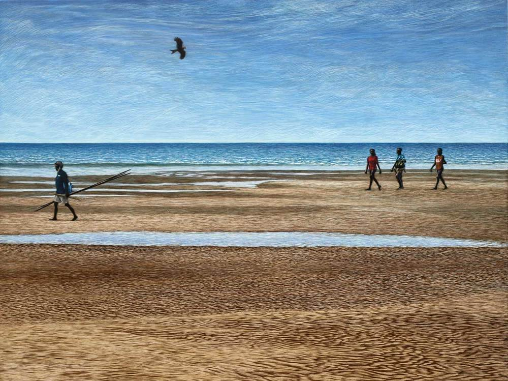 HEADING BACK BUFFALO CREEK BEACH, DARWIN  45.5 X 61 CM    EDITION OF 50  PIGMENT ON COTTON RAG PAPER  $1,100