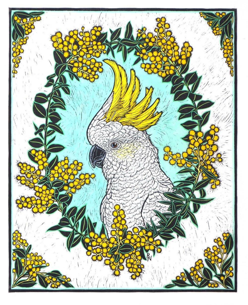 white-cockatoo-wattle-rachel-newling-linocut.jpg