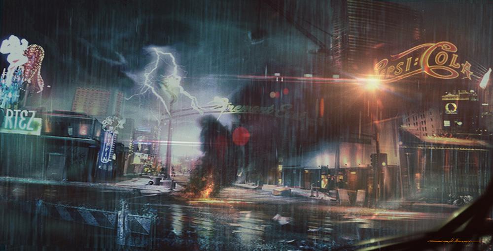 Street after Riot Rain