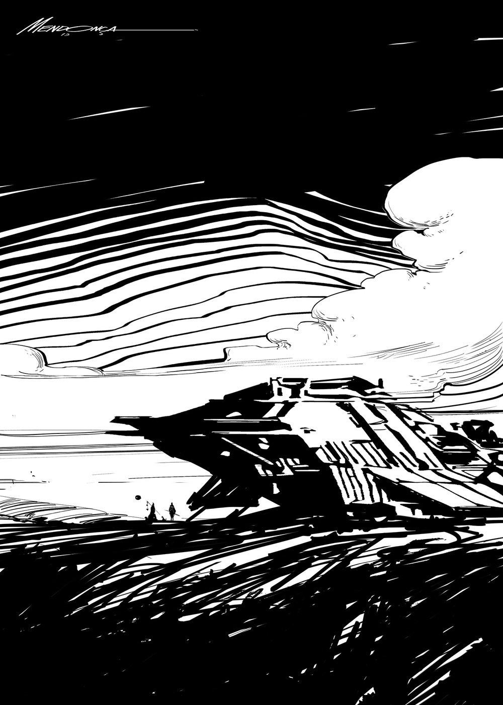 """Hutt"" /// 20 minutes sketch"