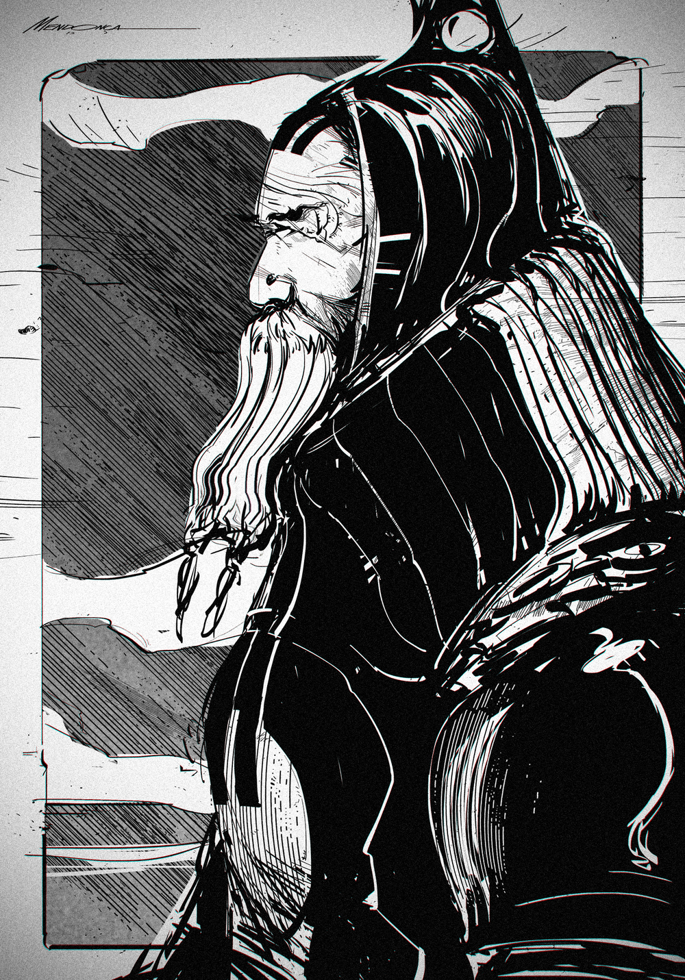 """The Monk"" /// 20 minutes sketch"