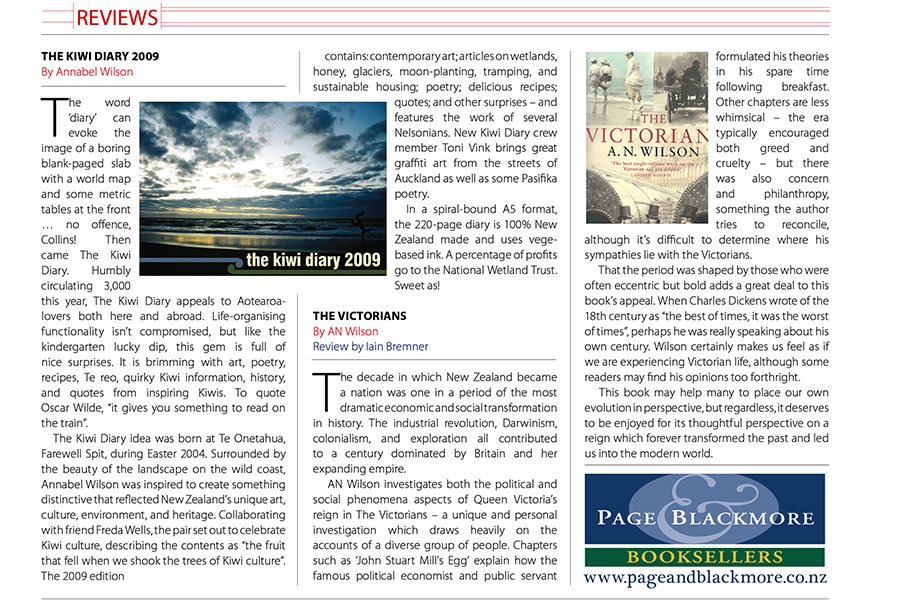 Wild Tomato magazine review of The Kiwi Diary 2010