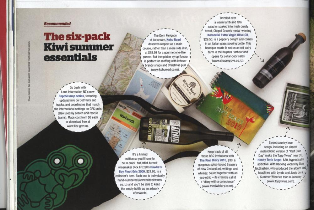 North & South Magazine recommends The Kiwi Diary 2010 as a Kiwi summer essential!