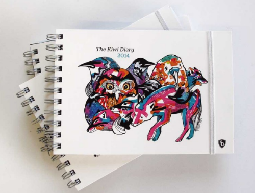 The Kiwi Diary 2014: Stunning cover design by Mica Still