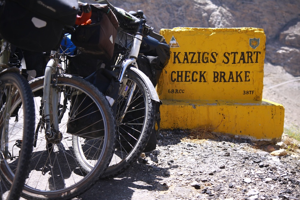 Roadsign in Ladakh, India