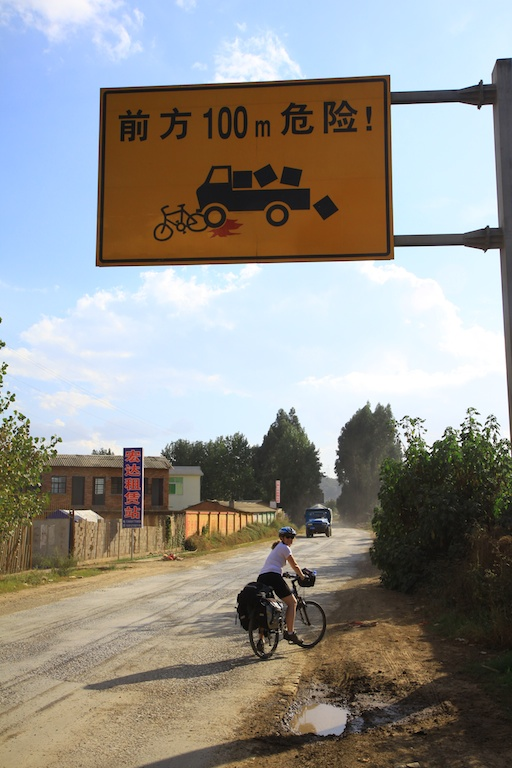 Road sign in Yunan, China