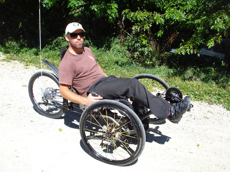 Recumbent wheelchair bike