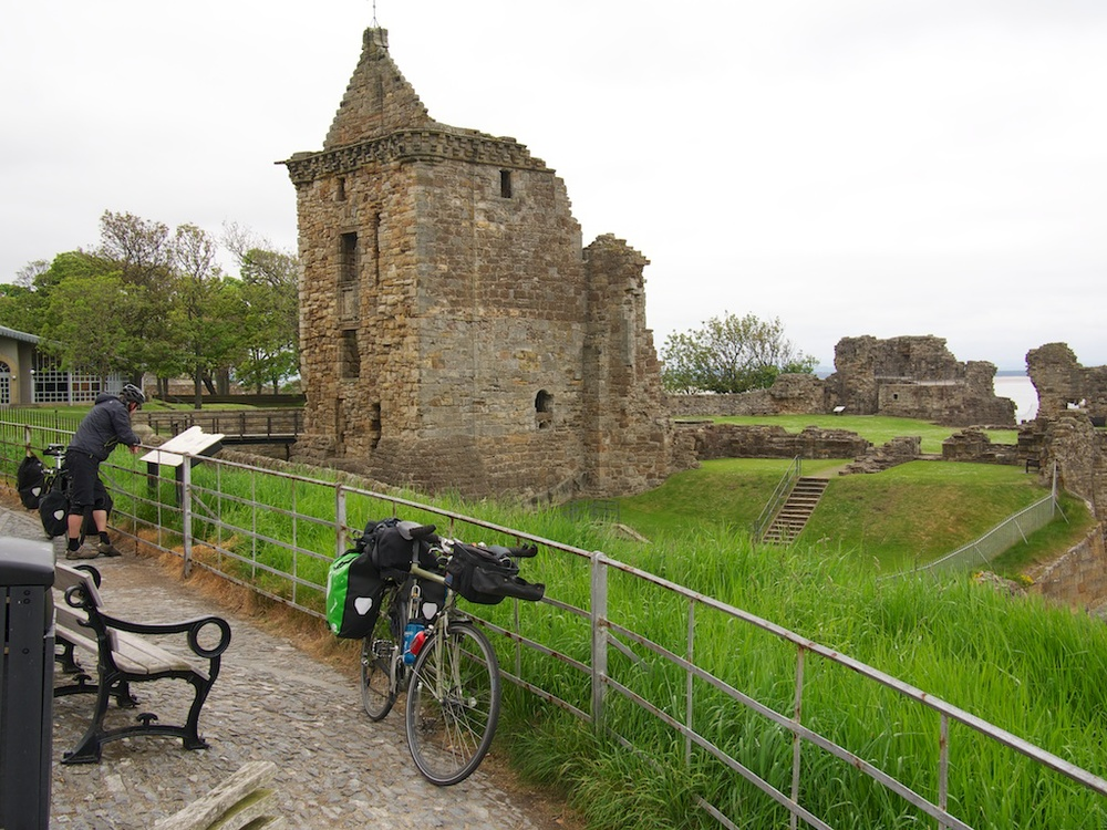 The castle ruins in St. Andrews