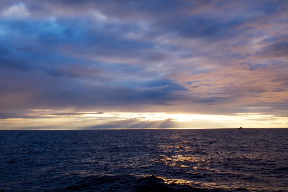 Sunset off the east coast of Scotland