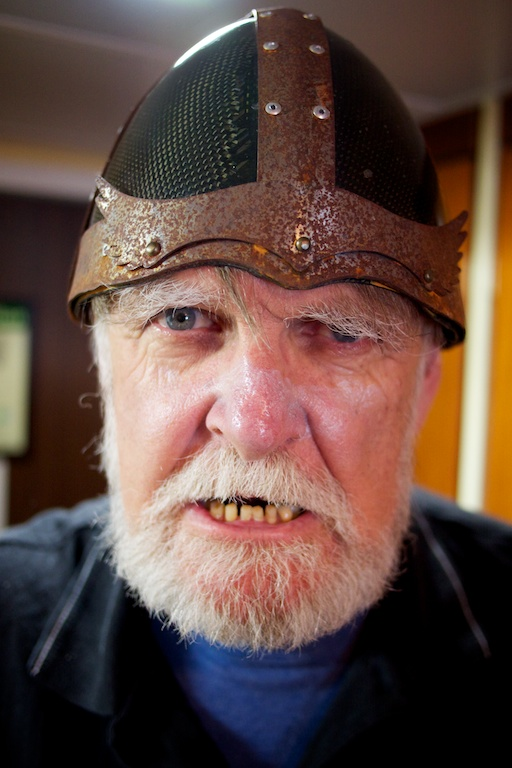 Bill the viking on board the Sea Adventurer