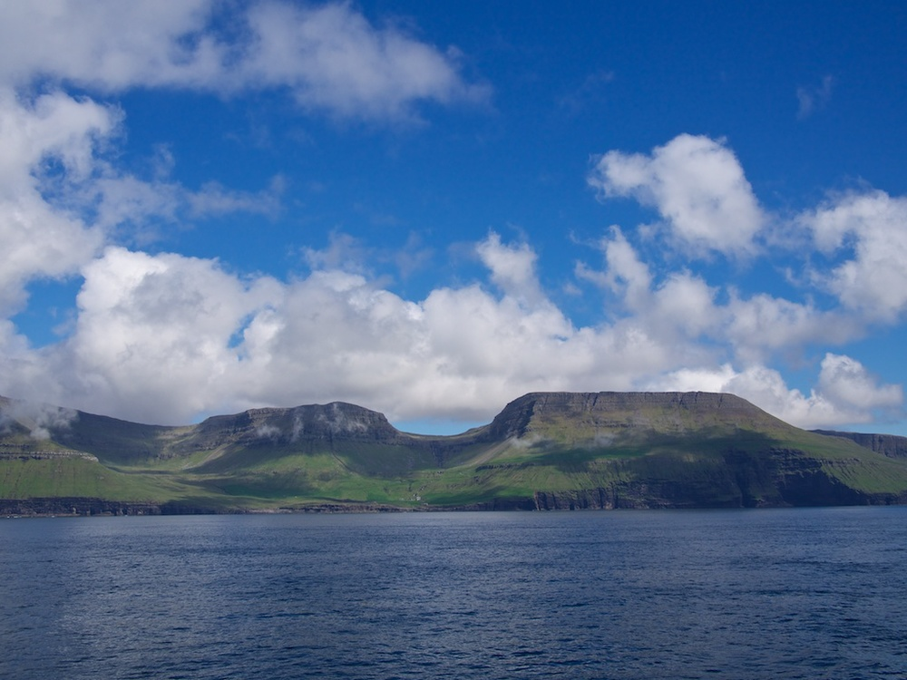Departing the Faroe Islands