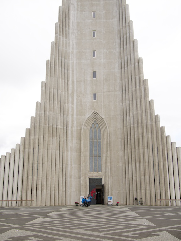 The cathedral in Reykjavik, Iceland