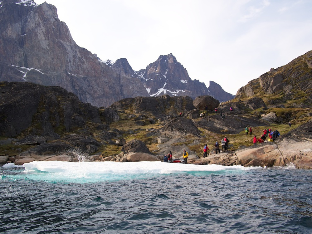 Going ashore in Prince Christiansund, Greenland