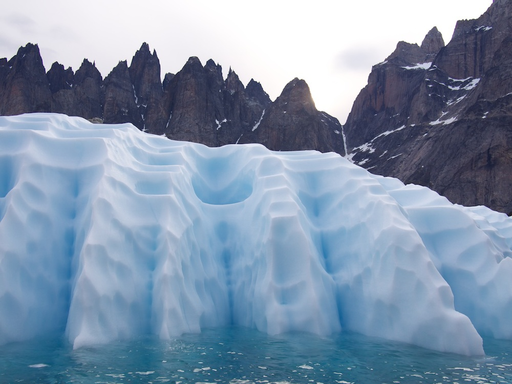 Incredible ice formations in Prince Christiansund, Greenland