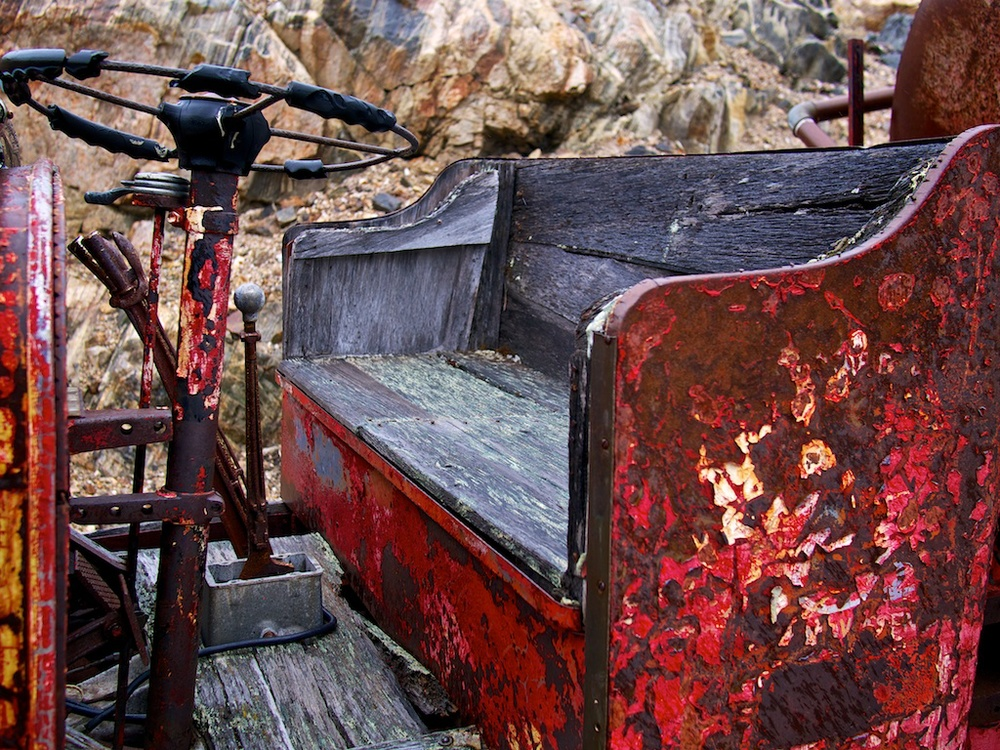 Old firetruck at Ivigtut, Greenland
