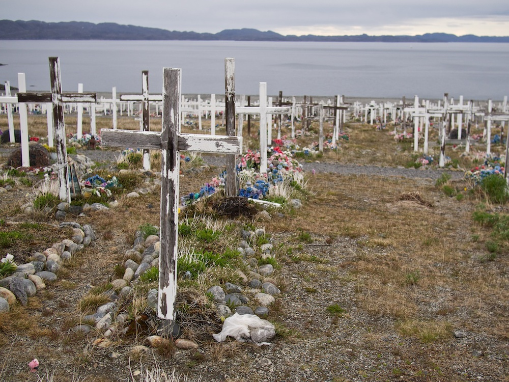 Cemetery in Nuuk, Greenland