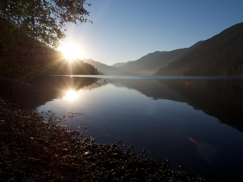 Waking up to bliss on Lake Crescent.