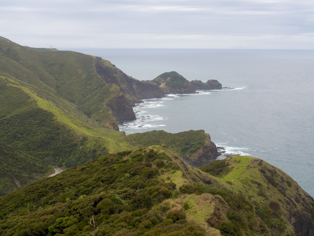 The lighthouse and spit at Cape Reinga.
