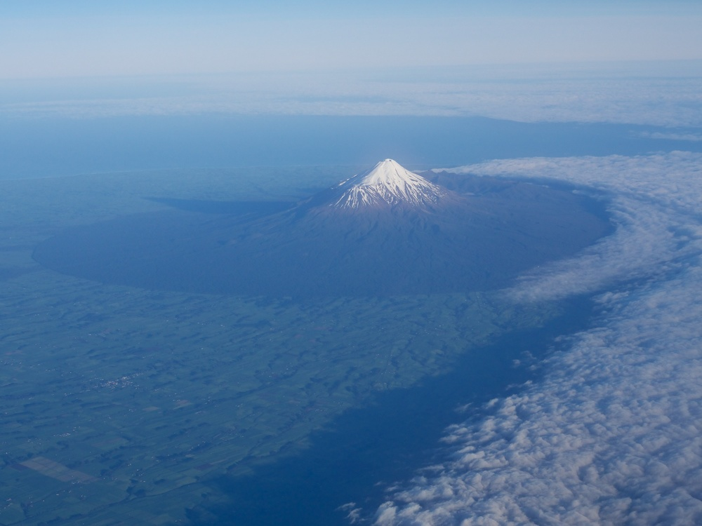 Mt. Taranaki from above.