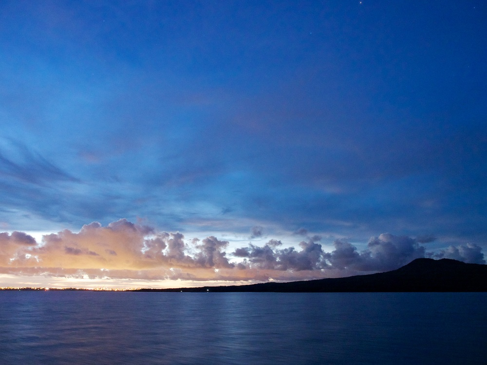 Rangitoto Island at sunset