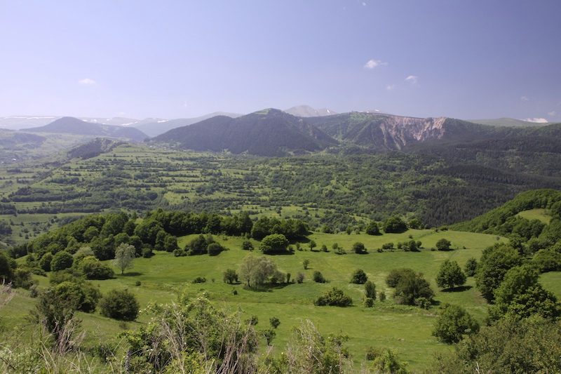 The grenn mountains of northern Turkey.