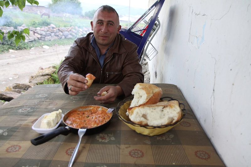 This guy kindly cooked me dinner and breakfast, it was amazing!