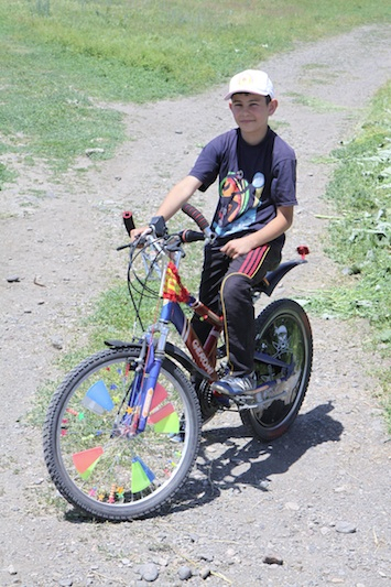 Kids in Turkey LOVE to pimp out their bikes, this was one of many...