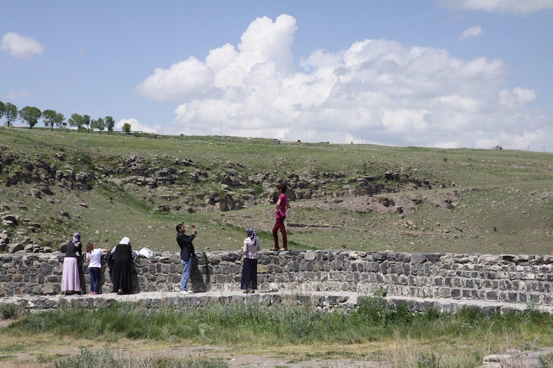 The castle in Kars, Turkey.