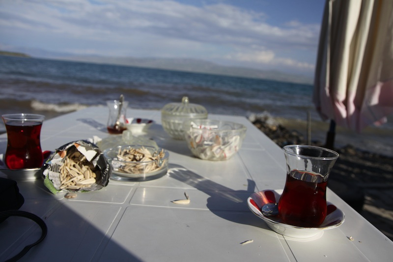 Tea by the shores of Lake Van.